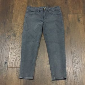 American Eagle gray jegging cropped jeans